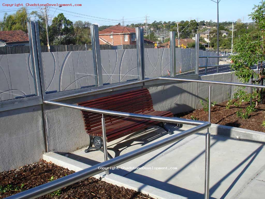A 'stonnington' park chair at the lookout point on the new Middle Rd footpath - Chadstone Development Discussions
