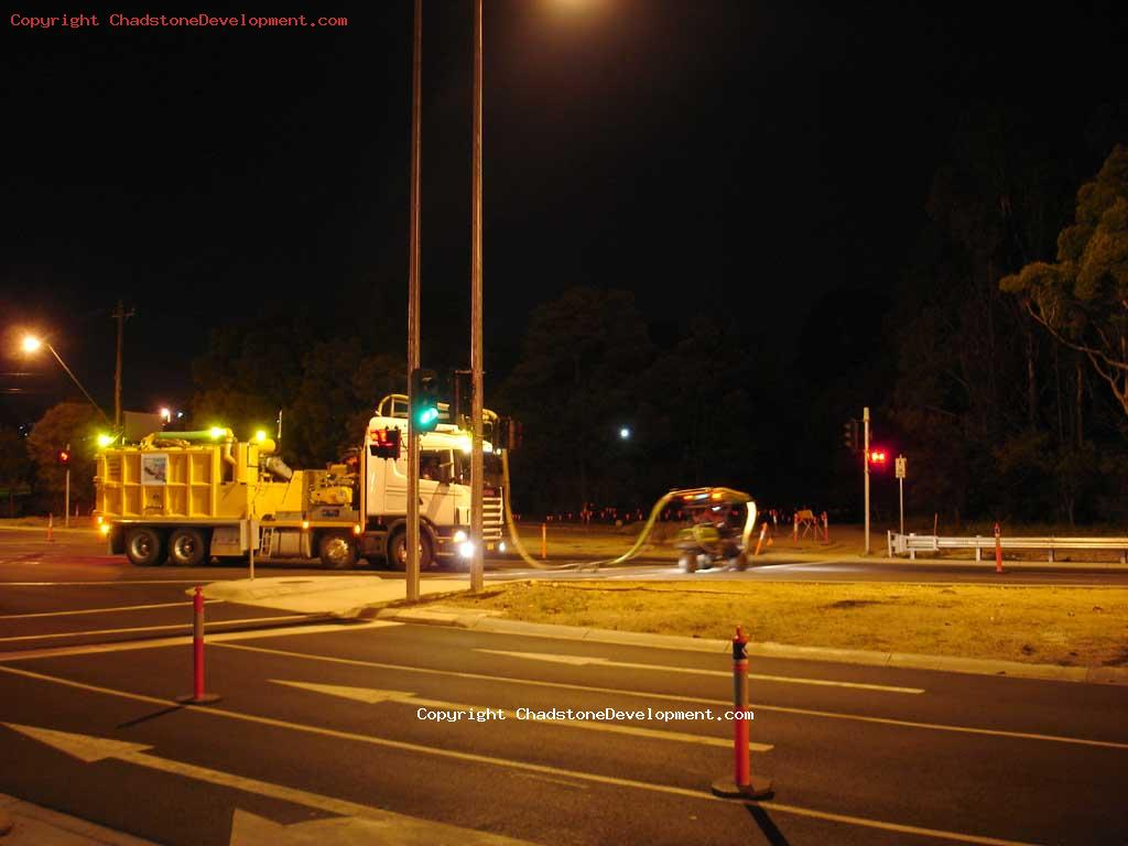 late night roadworks - Chadstone Development Discussions