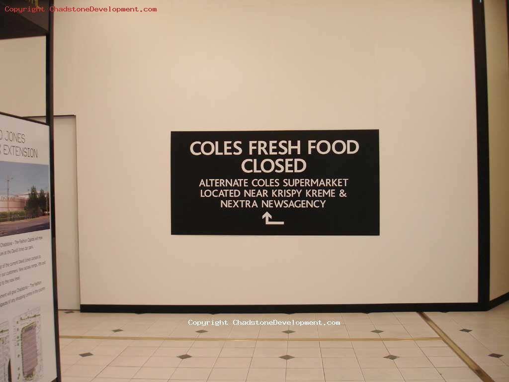Coles (bilo) closed, Chadstone Place - Chadstone Development Discussions