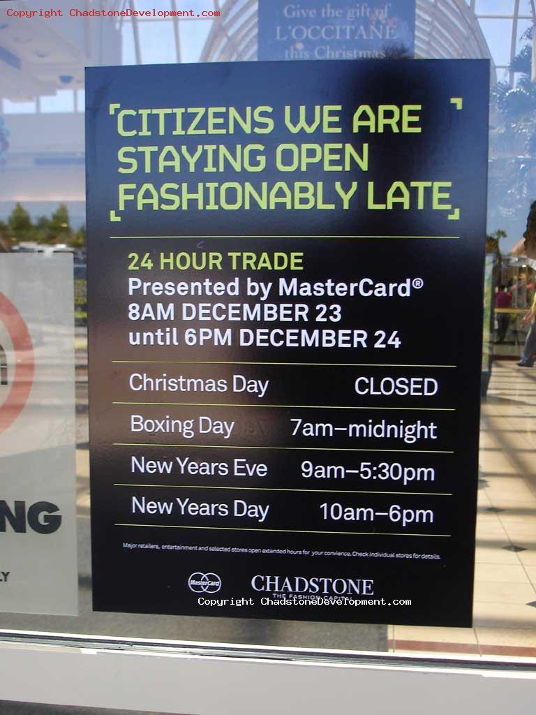 'Citizens We Are Staying Open Fashionably Late' - Chadstone Development Discussions