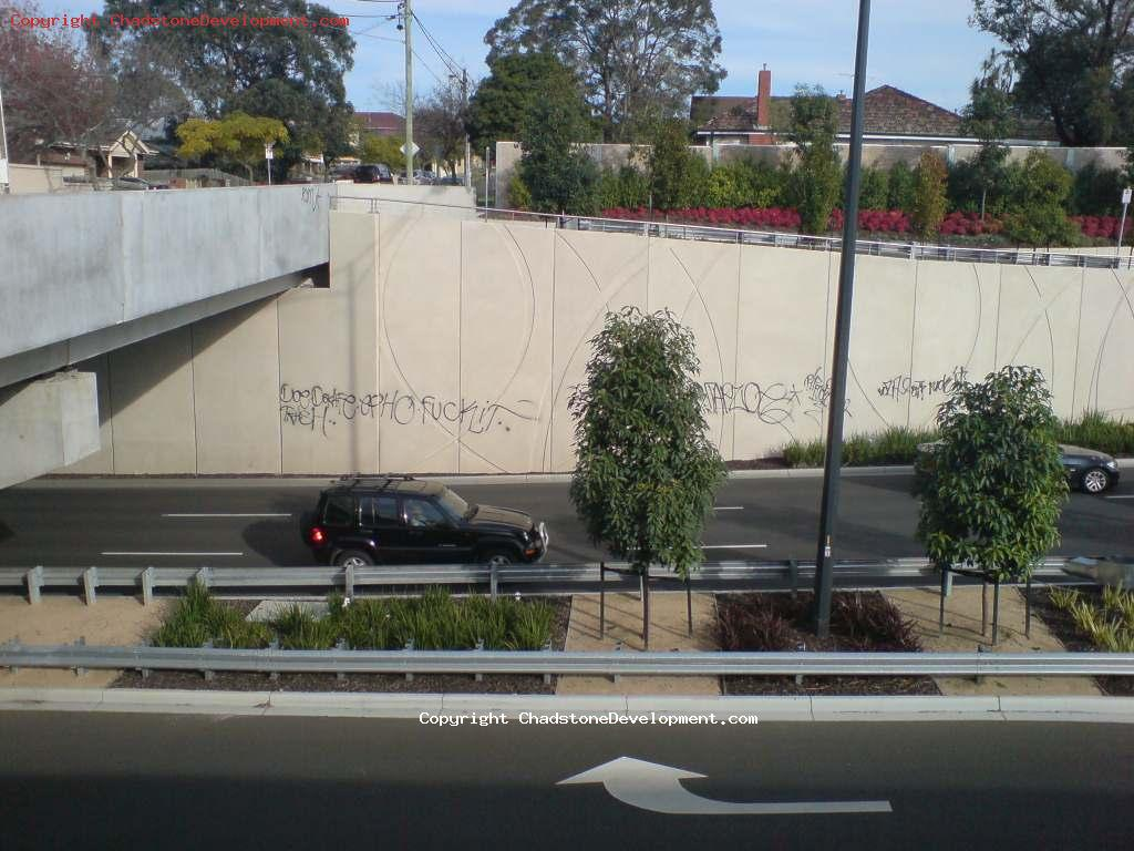 Graffiti on Middle Rd - Chadstone Development Discussions