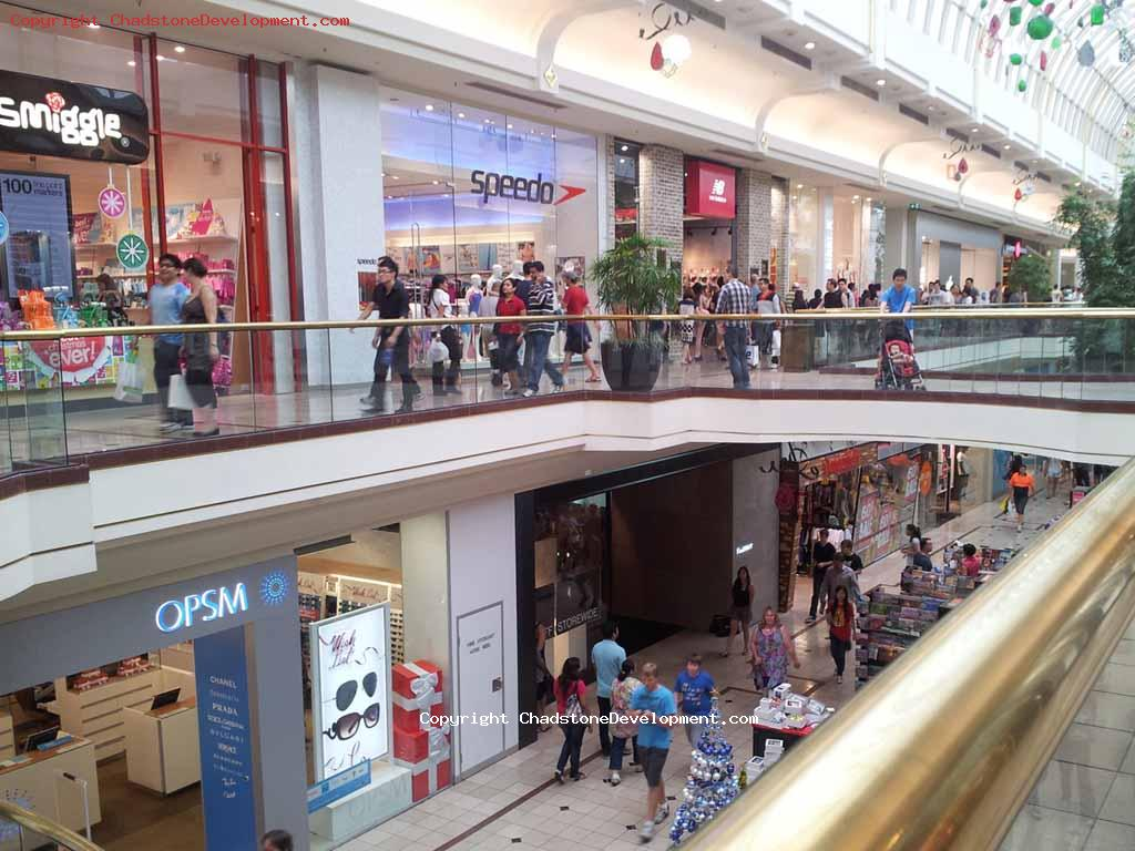 Busy Mall - Christmas Eve 2012 - Chadstone Development Discussions