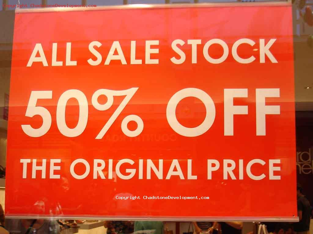 2012 Boxing Day 50% off - Chadstone Development Discussions