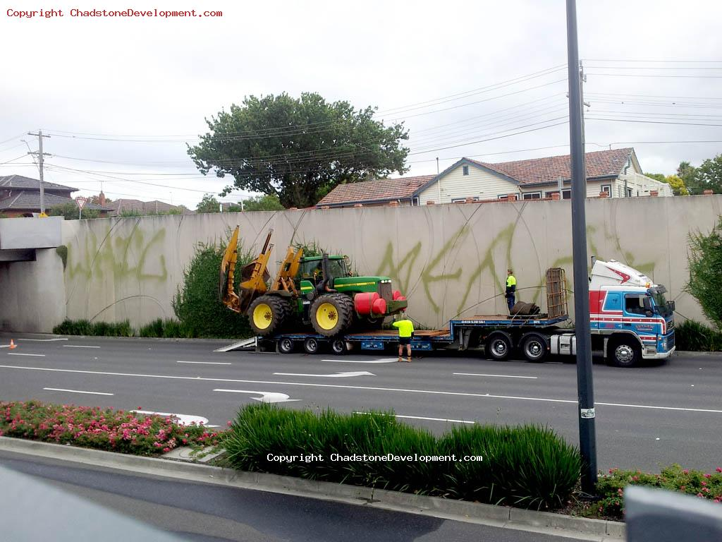Graffiti hits Chadstone's Middle Rd - Chadstone Development Discussions