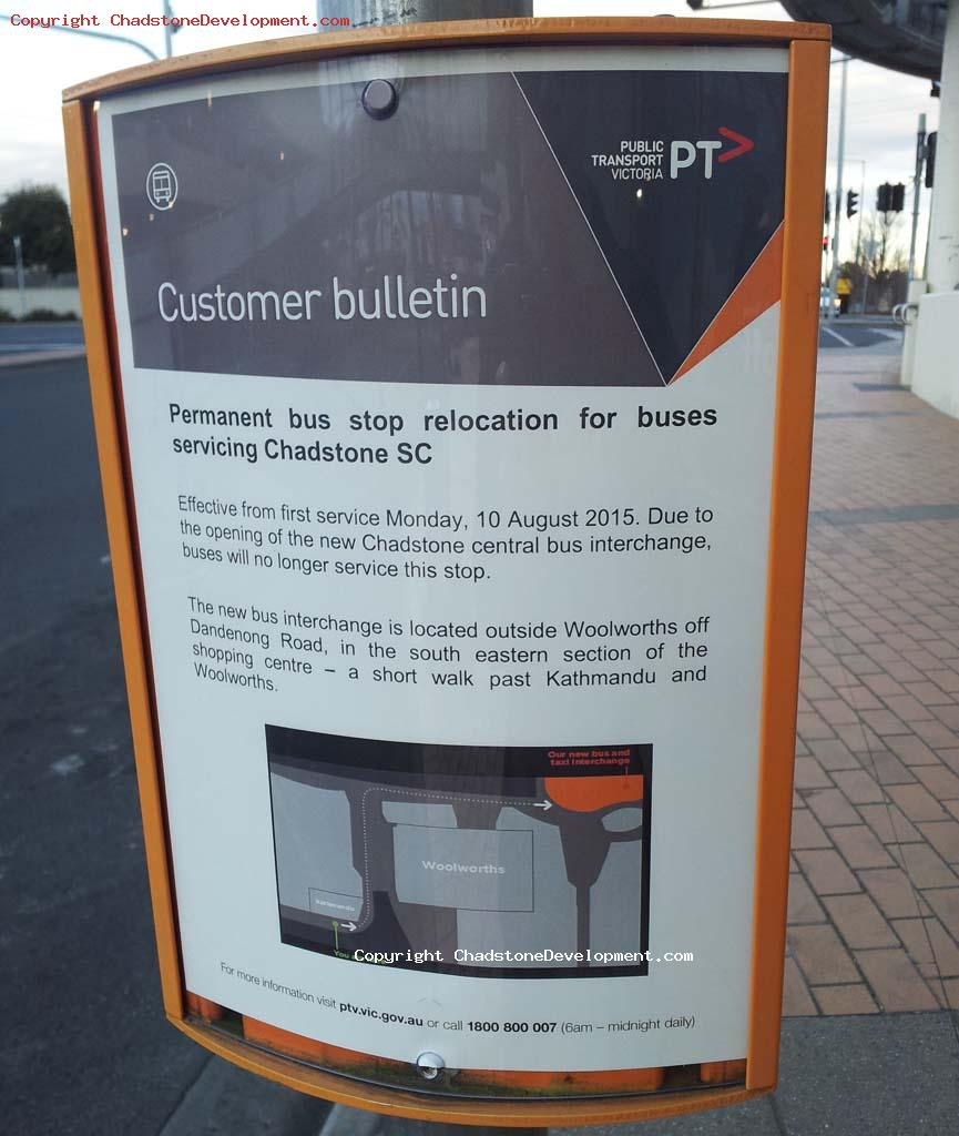 Chadstone Bus Stops customer bulletin - Chadstone Development Discussions