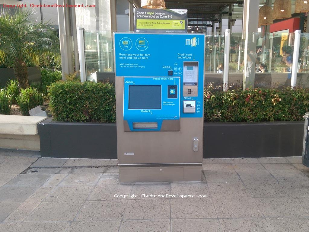 New Myki machine at Chadstone - Chadstone Development Discussions