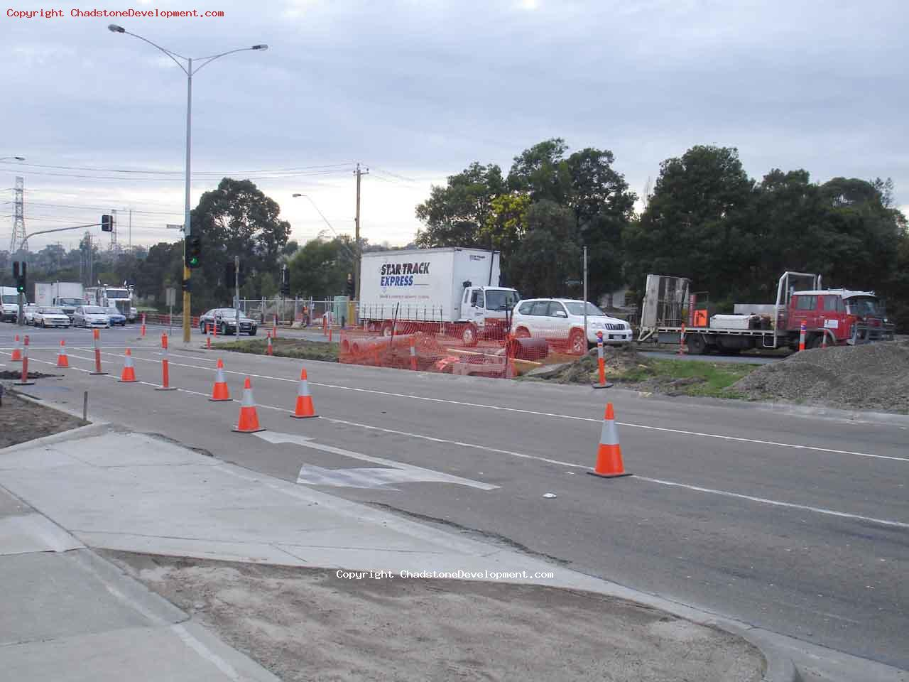 Preparing the shortening of the median strip on warrigal rd - Chadstone Development Discussions