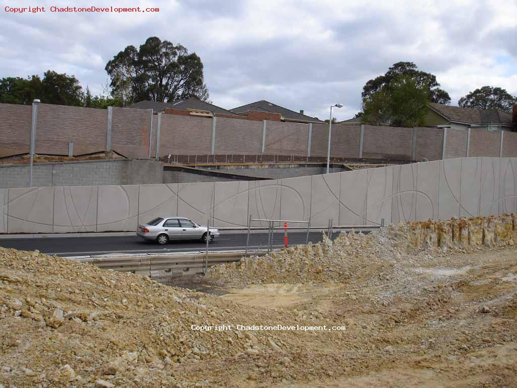 Lower part of excavations near Warrigal Rd - Chadstone Development Discussions