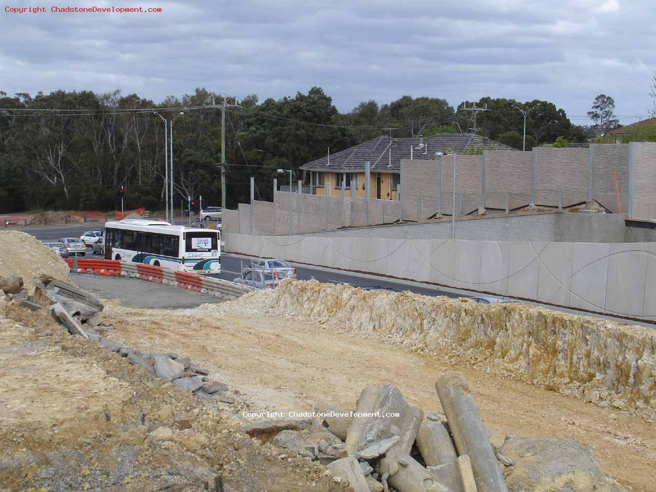 The temporary excavations ramp  at Warrigal Rd traffic lights - Chadstone Development Discussions
