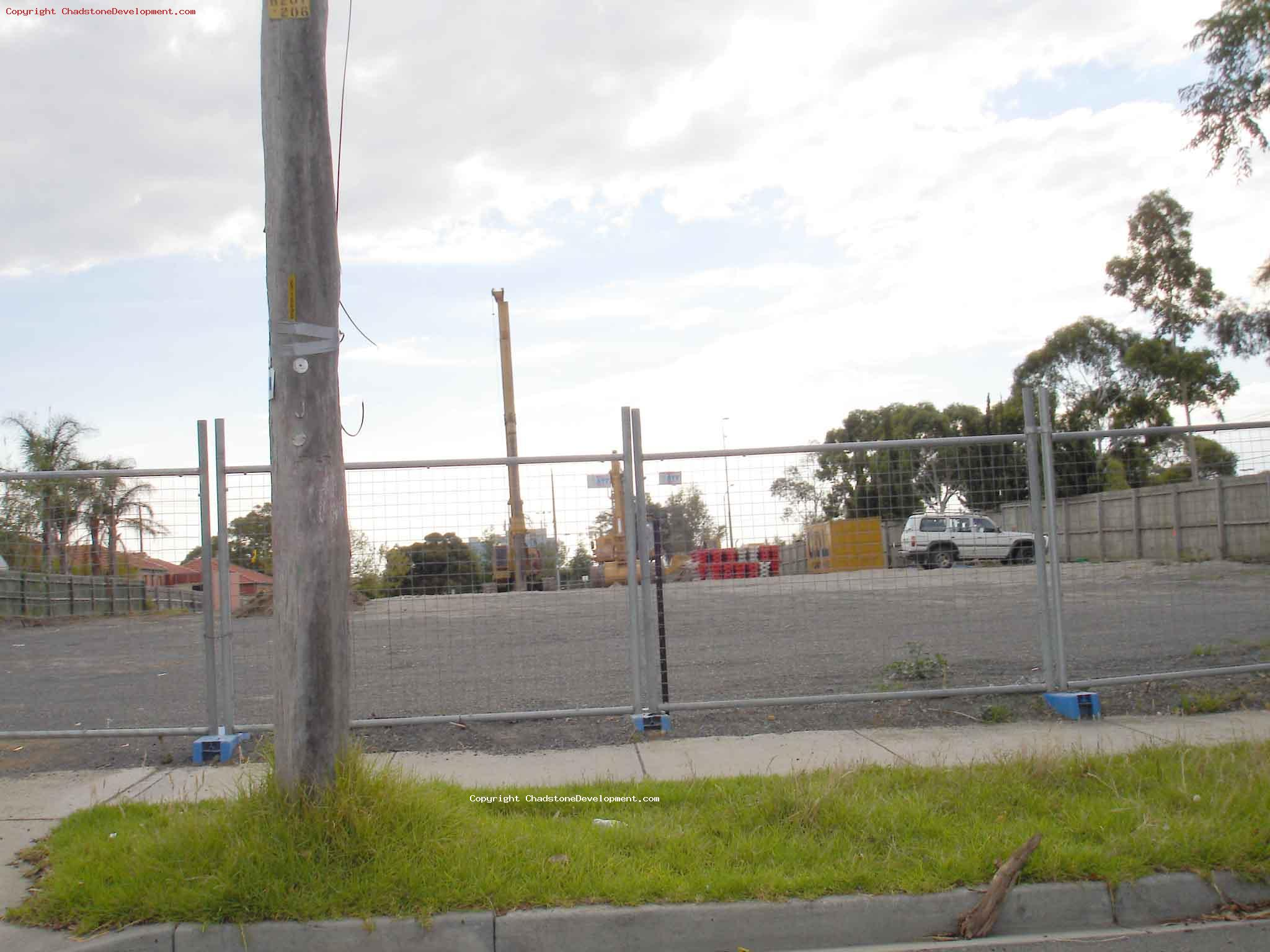 Earth moving equipment starting to appear - Chadstone Development Discussions