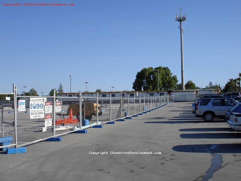 Fenced off Aust Post carpark - Chadstone Development Discussions