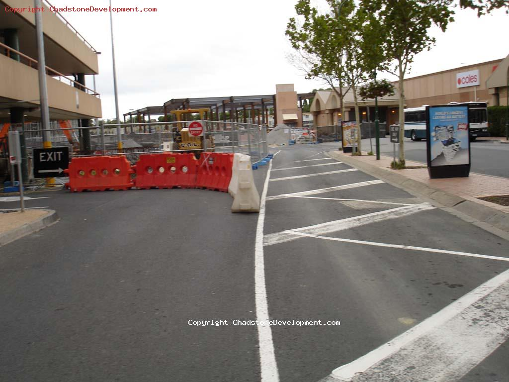 Road in front of Coles multilevel carpark - Chadstone Development Discussions