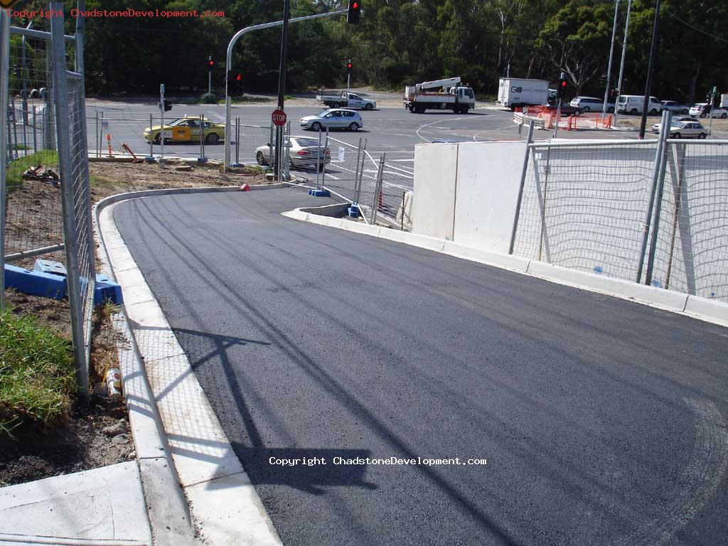 Middle Rd service lane downramp with new bitumen - Chadstone Development Discussions