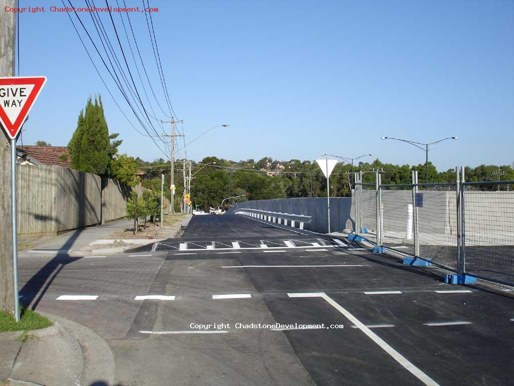 speed hump near Webster St bridge - Chadstone Development Discussions